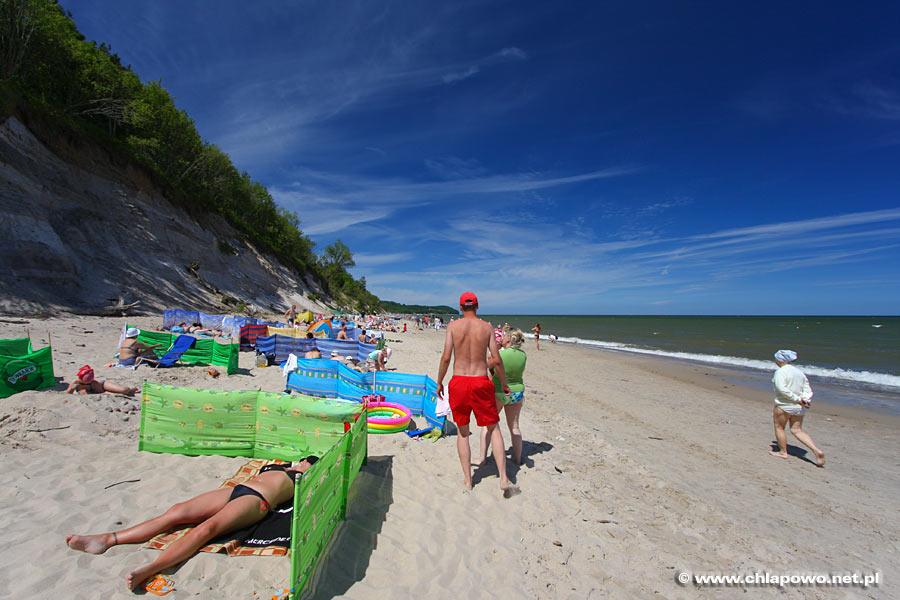 Klifowa plaża w Chłapowie